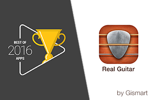 Real Guitar received Best of 2016 Apps badge