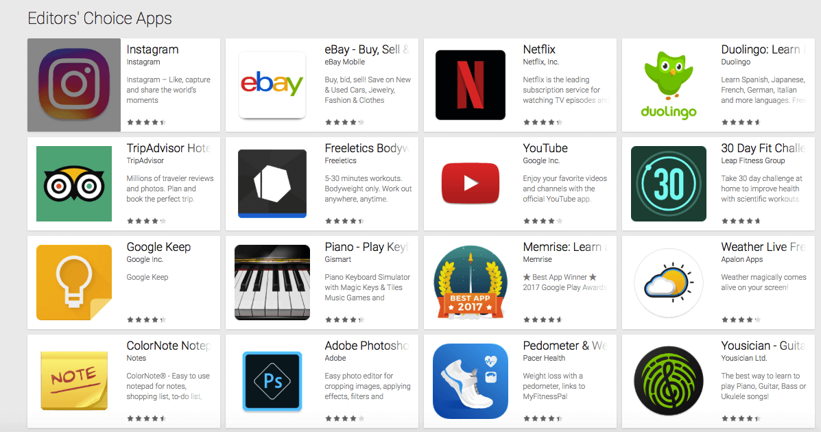 Piano is an Editors' Choice app by Google Play